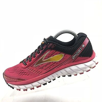 285ec35d38b Brooks Ghost 9 Women s Black Pink Running Athletic Sneakers Shoes Size 9.5 B