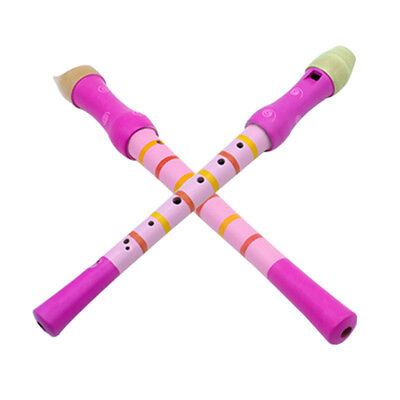 Wooden 8 Hole Treble Flute Clarinet Musical Instrument Educational Toys Reliable