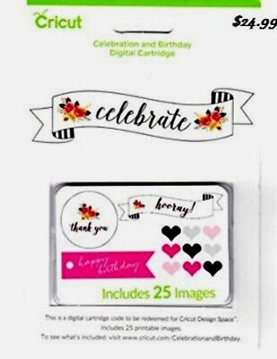 Cricut Digital Cartridge Celebration & Birthday - 25 Images  / Sealed