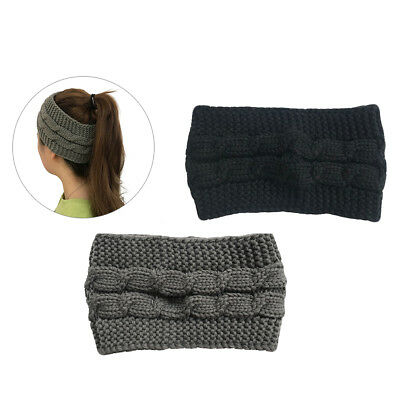2pcs Knitted Twist Shaped Crocheted Hair Band Headband Headwrap for Girls Women