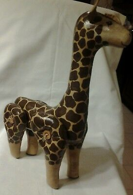 Vintage Uniquely Made Giraffe Styled With Button Leg Fasteners. Signed '93