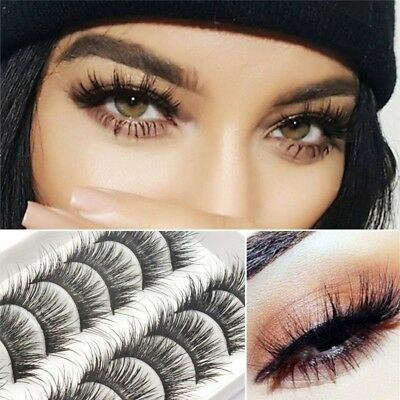 10 Pairs 3D Mink Lashes False Eyelashes Long Lasting Lashes Natural US