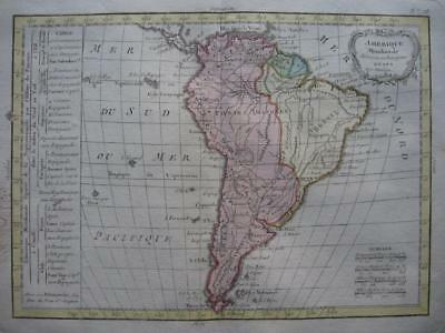 1790s - LATTRE - Nice map SOUTH AMERICA