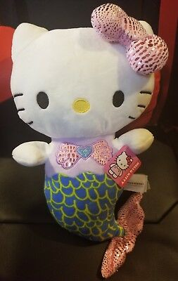 *NEW* Hello Kitty Mermaid Plush Toy bySanrio NWT Adorable Doll from Round 1