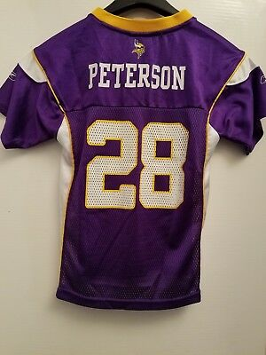 premium selection 84cdf fb8d8 NFL MINNESOTA VIKINGS #28 Adrian Peterson KIDS Large REEBOK Jersey
