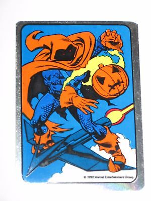 1992 Spider-Man Hobgoblin Marvel Vending Machine Non-Prism Foil Sticker! Rare!