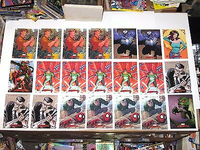2007 Marvel Masterpieces SKYBOX SPIDER-MAN CHASE INSERT 21 CARD LOT! MARY JANE!