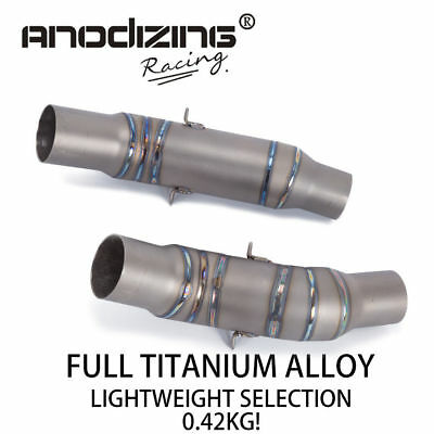 ANODIZING Titanium alloy Exhaust Middle Link Pipe For KAWASAKI Z1000 2010-2016