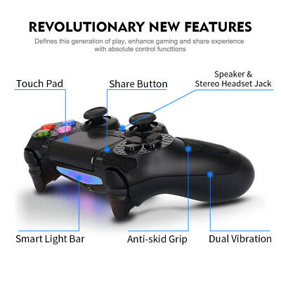 Controller for PS4 Wireless Joystick Gamepad for Sony Playstation 4 BK Diamond