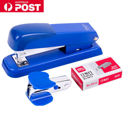 Heavy Duty Office Stapler Document Paper Bookbinder Remover With 2000 Staples