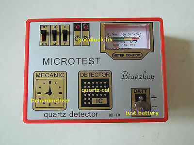 Quartz Watch Impulse Button Battery Check Coil IC Tester Demagnetizer Tool