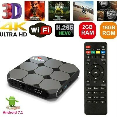 A95X R2 Android 7.1 Smart TV Box Quad Core 2GB 16GB 4K 3D H.265 Media HD Mini PC