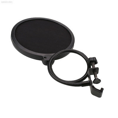 4ADD Black New Flexible Microphone Windshield Mic Pop Filter Shield Cover For Sp