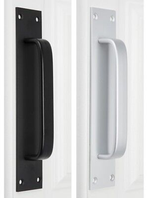 Door Drawer Handle Pull Entrance Entry Front Mounting Internal Black Silver