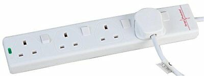pro elec 10 m Switched Surge Protected Extension Lead - White