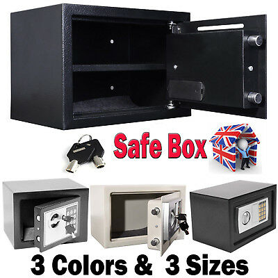 Strong Iron Steel Black Key Password Security Money Cash Safe Box Office House