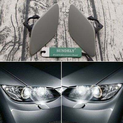 Pair L+R Passenger Side Headlight Washer Cover For BMW E92 E93 3 Series 05-10