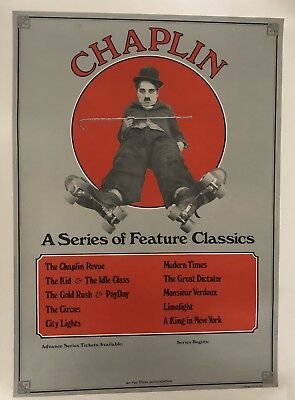 Original Vintage Poster Chaplin A Series of Feature Classics; USA ca.1973