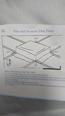 Fire and acoustic fire tent for 600x600 T8, T5, Led lighting modules