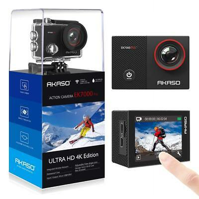 AKASO EK7000 Pro 4K Action Camera with Touch Screen & Accessories Kit Waterproof
