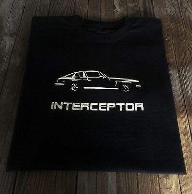 Jensen Interceptor Inspired T Shirt Classic 1970's British Sports Car Design