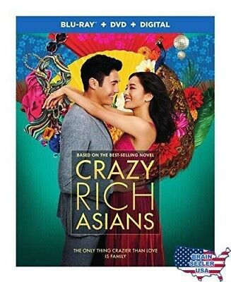 Crazy Rich Asians (Blu-ray + DVD + Digital Combo Pack), New