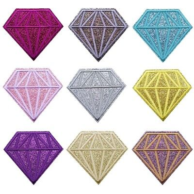 Glitter Diamond Sew on/Iron on Embroidered  Patch Diy Craft Clothes Applique