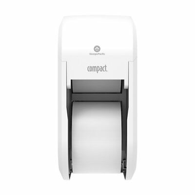 Compact 2-Roll Vertical Coreless High-Capacity Toilet Paper Dispenser by GP PRO