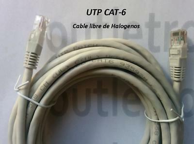 CABLE RED ETHERNET RJ45 CAT6 CREMA, Libre de Halogenos DESDE 0.25m. hasta 30m.