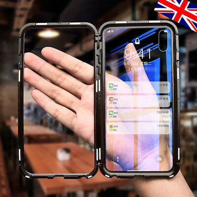 Luxury Magnetic Adsorption Slim Shockproof Clear Back Case Cover For iPhone 8 X