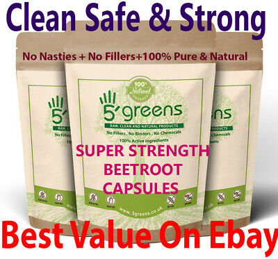 Beetroot Extract Capsules Super Strength 10,000mg , 100% Natural Organic Capsule
