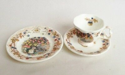 Miniature Brambly Hedge Autumn Cup and Saucer and Plate - 1st Quality Trio