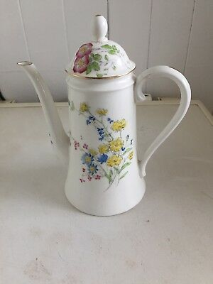 Antique  rare Royal Worcester Coffee Pot Dated 1878 Hand Painted