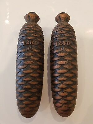 Cuckoo Clock Metal Weights 1260 BU pine cone style 3.7kilo the pair