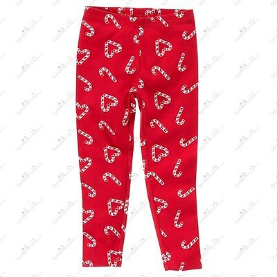 Nwt Gymboree Cozy Cutie Candy Cane Red White Leggings Jeggings Size 3