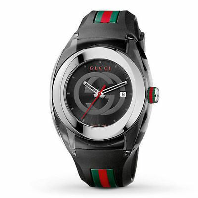 86d31bfe691 GUCCI Sync YA137101 Watch with Black Rubber Band - FREE SAME DAY SHIP
