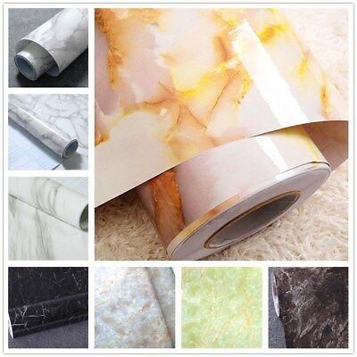 Granite Marble Effect Contact Wall Self Adhesive Sticker Paper 50cm Roll SALE US