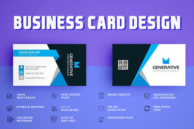 Professional Business Card Design - Unlimited Revisions - Hq Print Ready