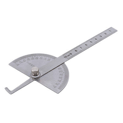 0-180 Degree Protractor Arm Stainless Steel Ruler Angle Finder Gauge N7