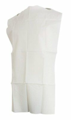 300 pack of Disposable Bibs 16 x 32. White Geriatric Bib for clinic, hospital.