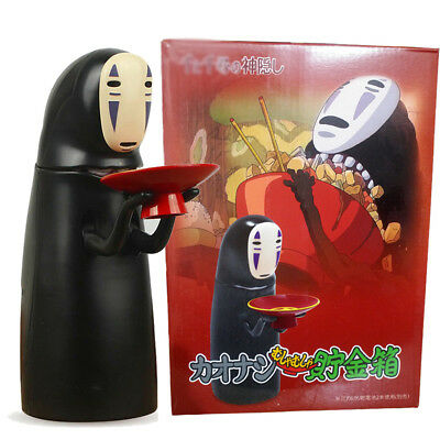 Anime Kaonashi No-Face Man Music Coin Money Eating Piggy Bank Spirited Away Box