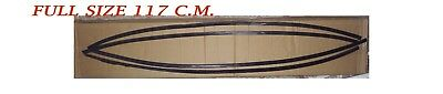 """Flexible 46"""" Long 1.2"""" Wide Body Fender Flare Arch Extension Black Rubber Strips"""