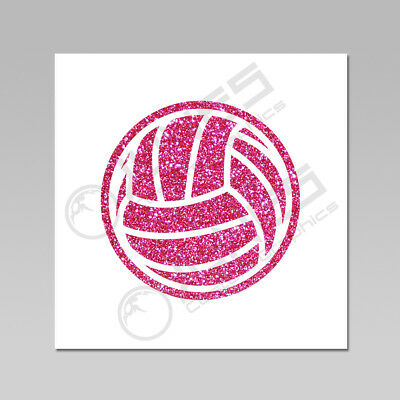 Volleyball Glitter Flake Iron On Heat Transfer, 18 Available Colors