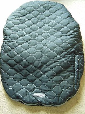 Jj Cole Collections Urban Bundleme Baby Quilted Car Seat Cover Black Gray Lined