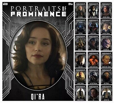 Portraits Of Prominence-Series 3-Steel-19 Card Set-Topps Star Wars Card Trader