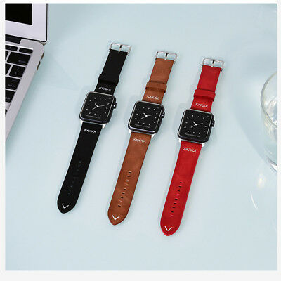 Apple Watch Band Genuine Leather Wrist Strap 40/44mm for iWatch Series 4/3/2/1