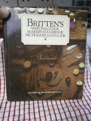 """Britten's Watch & Clock Makers & Guide Book "" parts mantle wall bracket repair"
