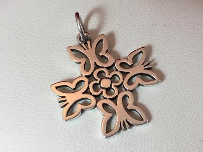 James Avery RETIRED Sterling Silver Butterfly Cross Charm/Pendant