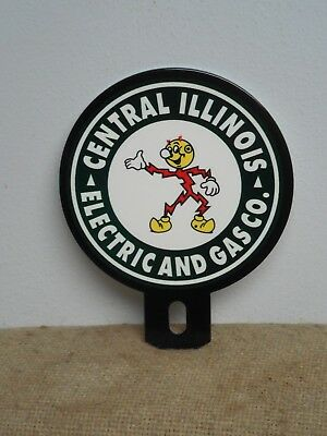 Reddy Kilowatt Central Illinois Electric and Gas Co. LICENSE PLATE TOPPER