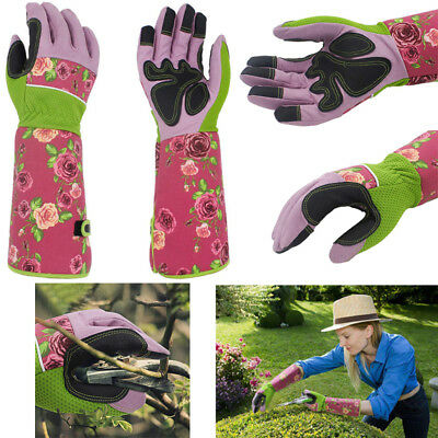Professional Rose Pruning Thornproof Gardening Long Gloves Forearm Protection AU
